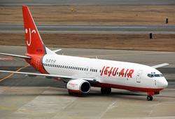 済州航空のB737-400型機
