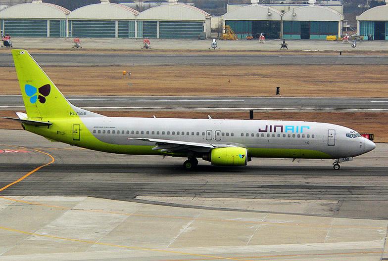 ジンエアーのB737-800型機