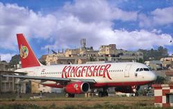キングフィッシャー航空のA320型機