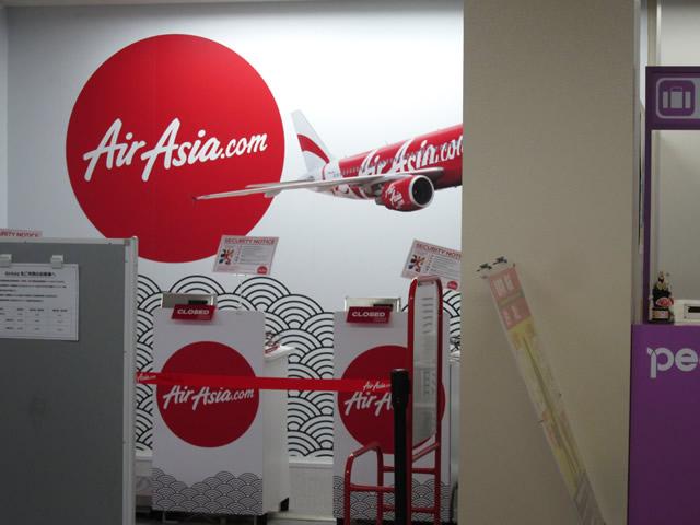 AiaAsiaのチェックインカウンター